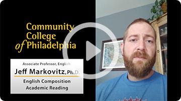 Professor Jeffrey Markovitz speaks about success in online learning