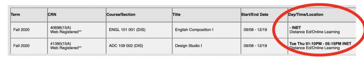 Enrollment Profile link schedule