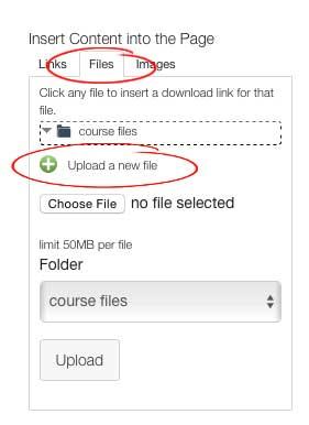 Upload Files screenshot