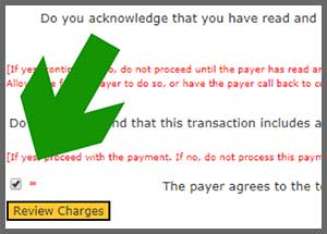 Agree to payment