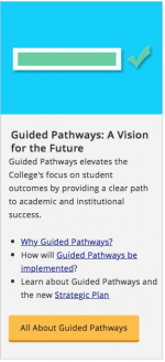 guided pathways on internal site