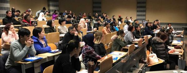 New Students in the English as a Second Language Institute Prepare for the Start of the Spring 2018 Semester