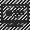 icon website on monitor line art