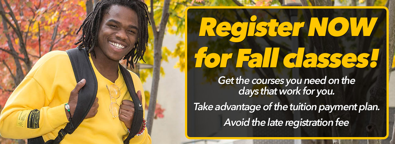 Register NOW for Fall Classes