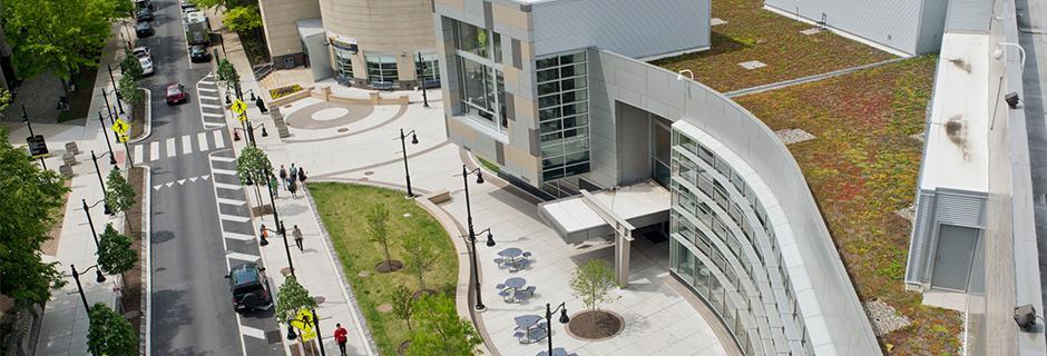 Overhead shot of Community College of Philadelphia.