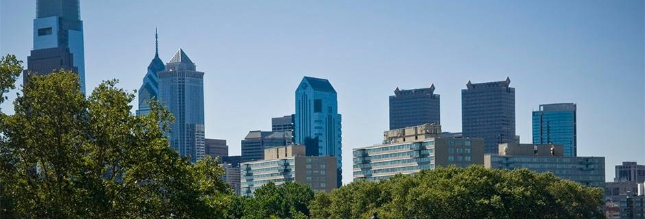 City skyline of Philadelphia.