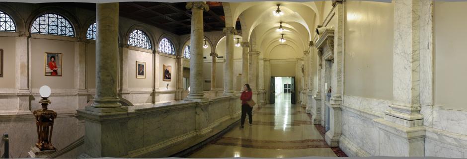 Upstairs Mint Lobby at CCP.