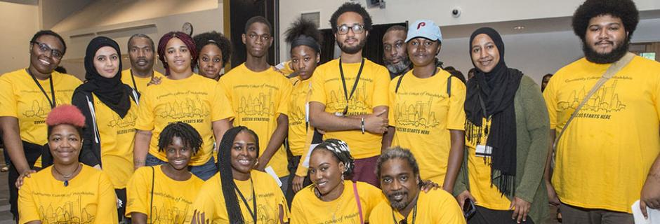 New Student Orientation Leaders at Community College of Philadelphia.