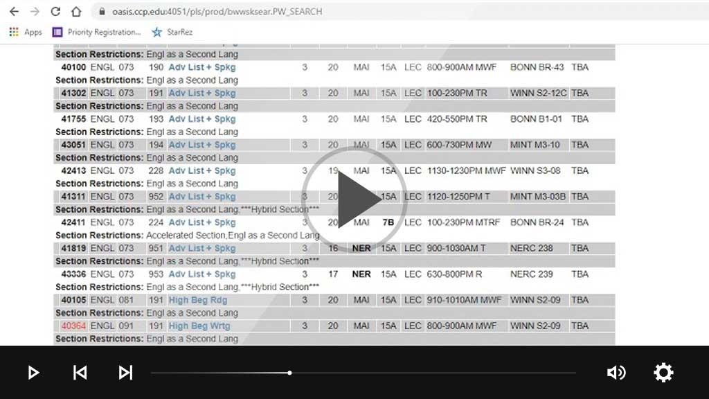 Screencast - register for ESL