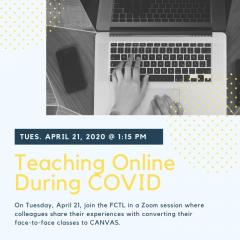 Teaching Online During COVID Faculty Panel